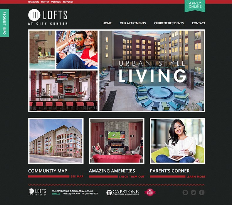 Student Housing Website Design